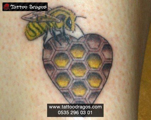 Arı Petek Tattoo