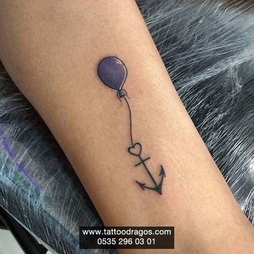 Balon Çıpa Dövmesi