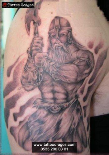 Baltalı Savaşçı Tattoo