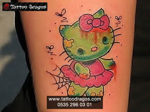 Cartoon Kitty Tattoo