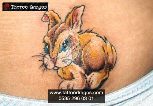 Cartoon Tavşan Tattoo