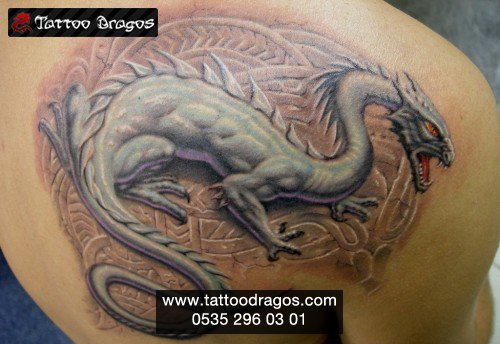 Dragon Renkli Tattoo