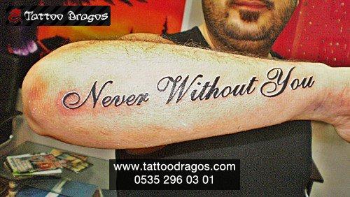 İngilizce Yazı Tattoo