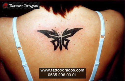 Kelebek Tribal Tattoo