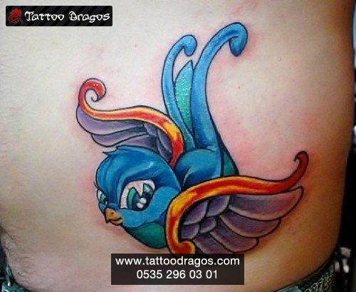 Kırlangıç Kuş Tattoo