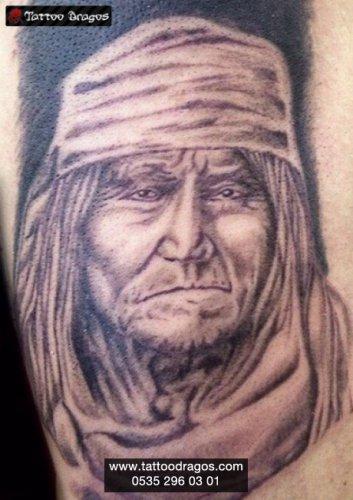 Kızılderili Erkek Tattoo
