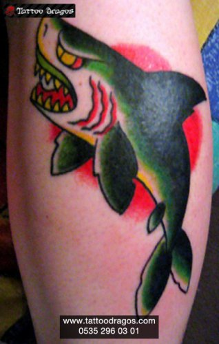 Köpekbalığı Shark Tattoo