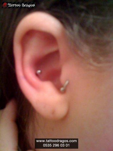 Kulak İçi Alt Piercing
