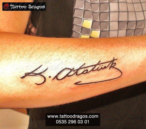 Mustafa Kemal Atatürk İmza Tattoo