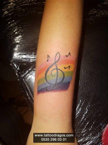 Müzik Nota Dövmesi