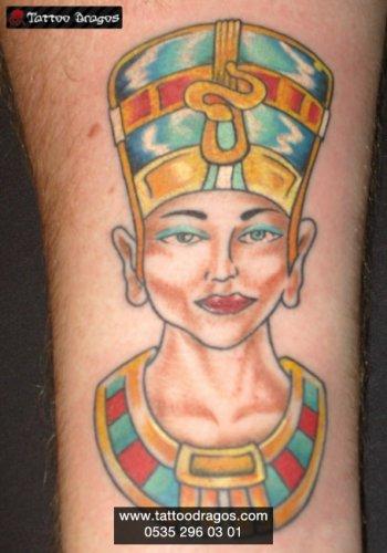 Nefertiti Mısır Tattoo