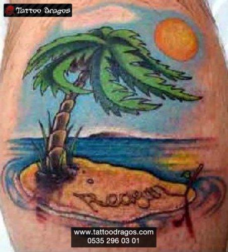 Palmiye Okyanus Tattoo
