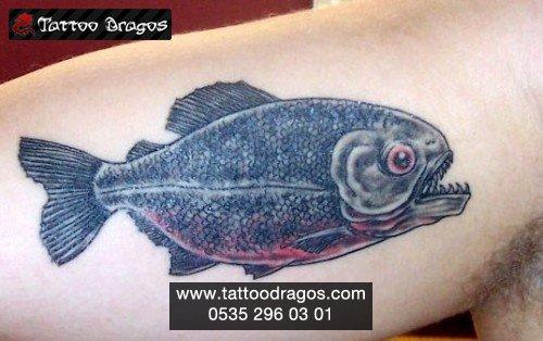 Piranha Balık Tattoo