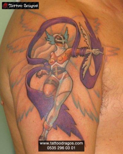 Savaşçı Kadın Tattoo