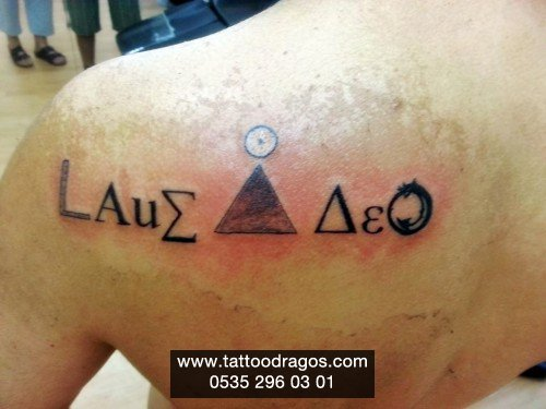 Sembol Yazı Tattoo