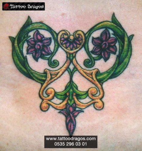 Tribal Çiçek Tattoo