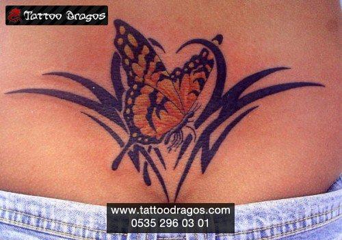Tribal Kelebek Tattoo