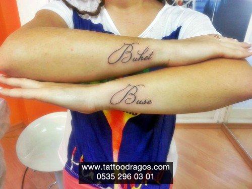 Yazı İsim Tattoo