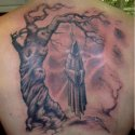 Gölgeli Ağaç Ve Azrail Tattoo
