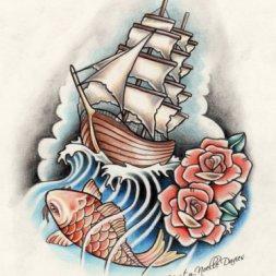Balık Yelkenli Dövme Modeli