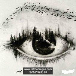 Göz Dövme Modeli