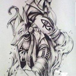Horus Anubis Dövme Modeli