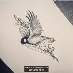 Kuş Dövmesi Modeli