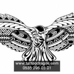 Maori Kuş Dövme Modeli