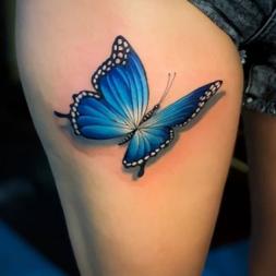 Mavi Kelebek Dövmesi