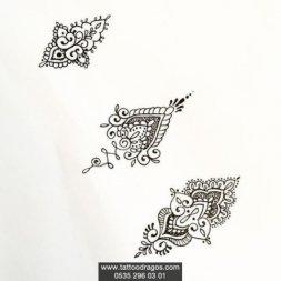 Parmak Dövmeleri Modeli