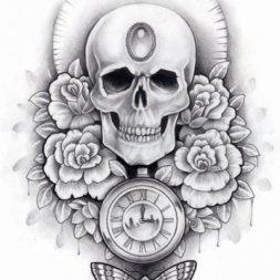 Skull Kurukafa Dövme Modeli